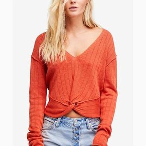 NWT FREE PEOPLE Got Me Twisted Sweater Sz S